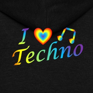 I LOVETECHNO MUSIC - Unisex Fleece Zip Hoodie by American Apparel