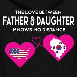 The Love Between Father And Daughter T Shirt - Unisex Fleece Zip Hoodie by American Apparel