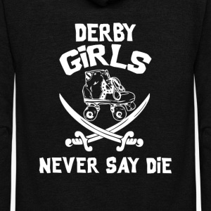 Roller Derby Girls Never Say Die - Unisex Fleece Zip Hoodie by American Apparel