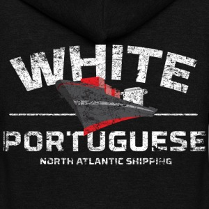 White Portuguese - Unisex Fleece Zip Hoodie by American Apparel
