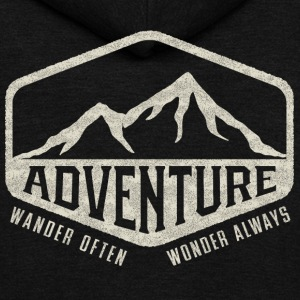 Adventure - Wander Often, Wonder Always - Unisex Fleece Zip Hoodie by American Apparel