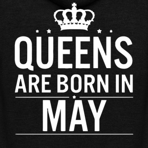 Queens are born in May woman shirt - Unisex Fleece Zip Hoodie by American Apparel