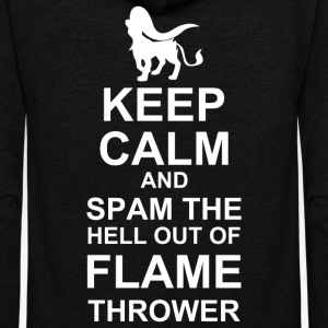 Keep Calm and Spam Flame Thrower - Unisex Fleece Zip Hoodie by American Apparel