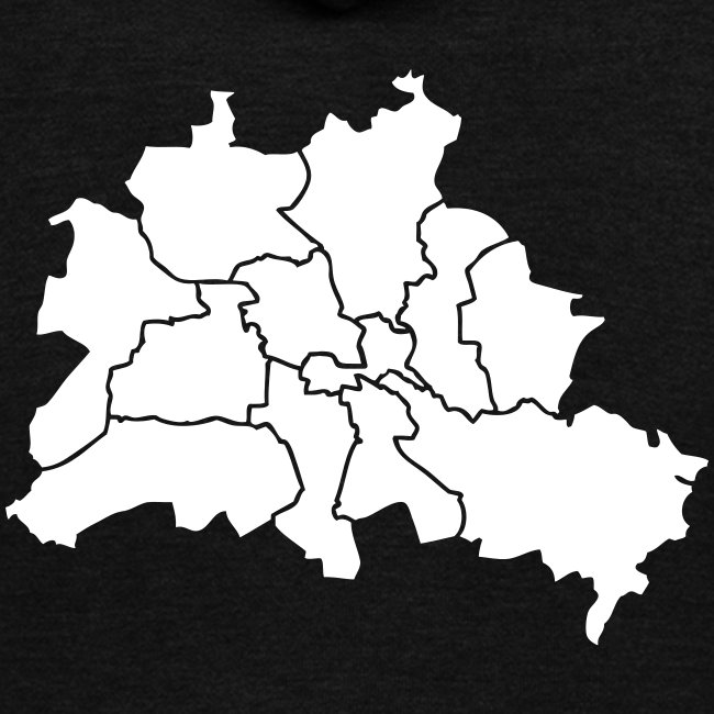 Berlin map, districts