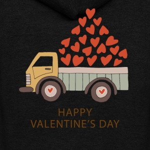 Truckload of Love - Happy Valentine's Day - Unisex Fleece Zip Hoodie by American Apparel