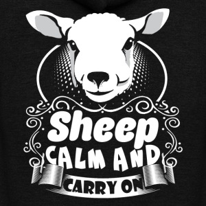 SHEEP CALM CARRY ON SHIRT - Unisex Fleece Zip Hoodie by American Apparel