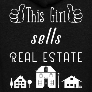 This Girl Sells Real Estate for Property Managers - Unisex Fleece Zip Hoodie by American Apparel