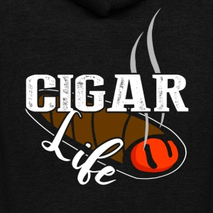 CIGAR LIFE T SHIRTS - Unisex Fleece Zip Hoodie by American Apparel