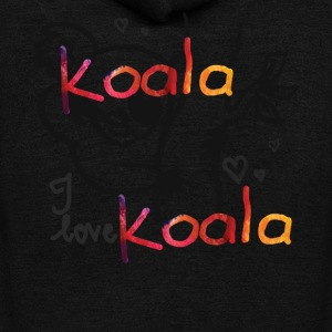 Koala Love Shirt - Unisex Fleece Zip Hoodie by American Apparel