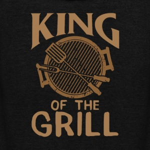 KING OF THE GRILL - Unisex Fleece Zip Hoodie by American Apparel