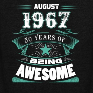 August 1967 - 50 years of being awesome - Unisex Fleece Zip Hoodie by American Apparel