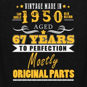 Vintage made in 1950 - 67 years to perfection (v.2017) - Unisex Fleece Zip Hoodie by American Apparel