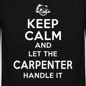 Keep calm Carpenter T-Shirts - Unisex Fleece Zip Hoodie by American Apparel