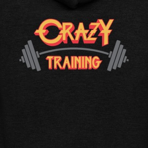 Crazy Training - Unisex Fleece Zip Hoodie by American Apparel