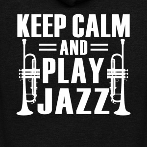 Keep calm And Play Jazz Shirt - Unisex Fleece Zip Hoodie by American Apparel