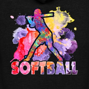 SOFTBALL TEE SHIRT - Unisex Fleece Zip Hoodie by American Apparel