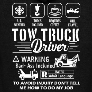 Tow Truck Driver T-Shirts - Unisex Fleece Zip Hoodie by American Apparel