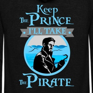 Keep The Prince, I'll Take The Pirate. - Unisex Fleece Zip Hoodie by American Apparel