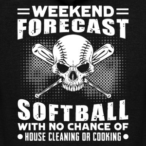 WEEKEND FORECAST SOFTBALL SHIRT - Unisex Fleece Zip Hoodie by American Apparel