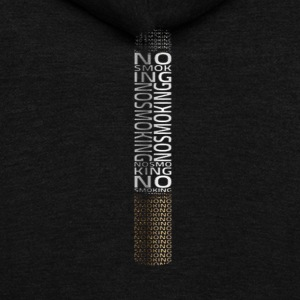 no smoking tshirt - Unisex Fleece Zip Hoodie by American Apparel