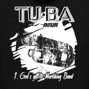 TUBA DEFINITION SHIRT - Unisex Fleece Zip Hoodie by American Apparel