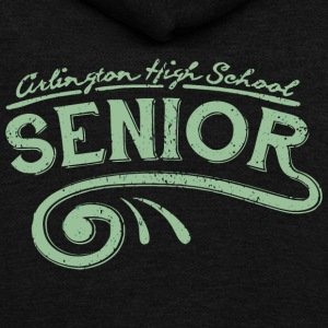 Arlington High School SENIOR - Unisex Fleece Zip Hoodie by American Apparel