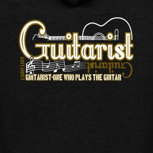 BLACK GUITARIST T SHIRT - Unisex Fleece Zip Hoodie by American Apparel