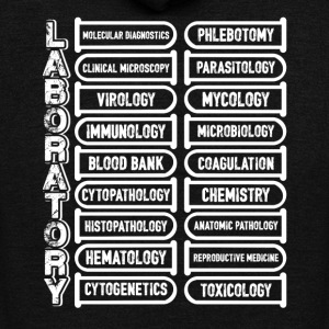 Laboratory Tee Shirt - Unisex Fleece Zip Hoodie by American Apparel