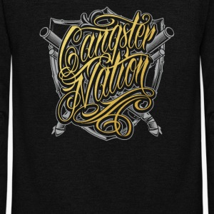 Gangster nation - Unisex Fleece Zip Hoodie by American Apparel
