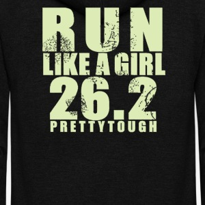 Run like a girl 26 - Unisex Fleece Zip Hoodie by American Apparel