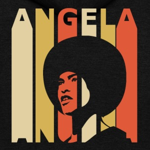 Retro Angela - Unisex Fleece Zip Hoodie by American Apparel