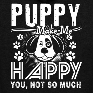 PUPPY MAKE ME HAPPY SHIRT - Unisex Fleece Zip Hoodie by American Apparel