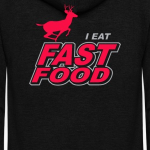 I Eat Fast Food - Unisex Fleece Zip Hoodie by American Apparel