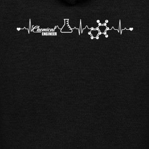 Chemical Engineer Heartbeat Shirt - Unisex Fleece Zip Hoodie by American Apparel