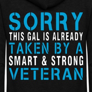 A Smart And Strong Veteran T Shirt - Unisex Fleece Zip Hoodie by American Apparel