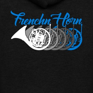 French Horn Shirt - Unisex Fleece Zip Hoodie by American Apparel