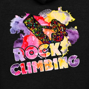 Rock Climbing Shirt - Unisex Fleece Zip Hoodie by American Apparel