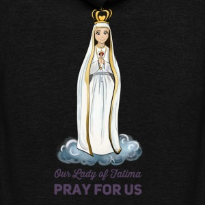 Our lady of Fatima - Unisex Fleece Zip Hoodie by American Apparel