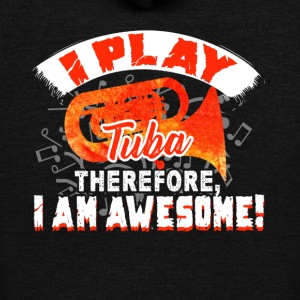 I PLAY TUBA SHIRT - Unisex Fleece Zip Hoodie by American Apparel