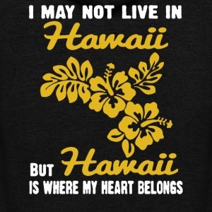 HAWAII IS WHERE MY HEART BELONGS Shirt - Unisex Fleece Zip Hoodie by American Apparel
