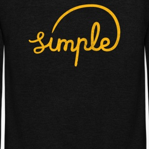 Simple - Unisex Fleece Zip Hoodie by American Apparel