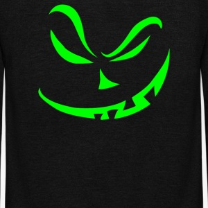 Scary Pumpkin Halloween - Unisex Fleece Zip Hoodie by American Apparel