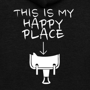 Happy Place Western Riding - Unisex Fleece Zip Hoodie by American Apparel
