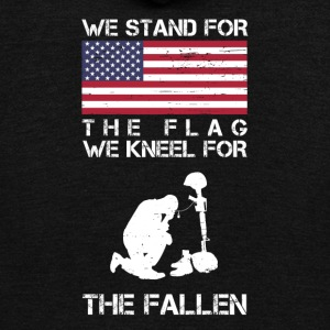 We Stand For The Flag We Kneel For The Fallen Shir - Unisex Fleece Zip Hoodie by American Apparel