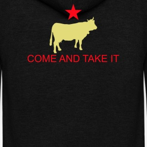Come And Take It Cow - Unisex Fleece Zip Hoodie by American Apparel