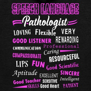 Speech Language Pathologist Shirt - Unisex Fleece Zip Hoodie by American Apparel
