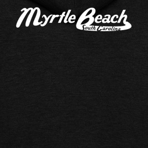 Myrtle Beach South Carolina Vintage Logo - Unisex Fleece Zip Hoodie by American Apparel