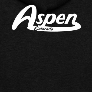 Aspen Colorado Vintage Logo - Unisex Fleece Zip Hoodie by American Apparel