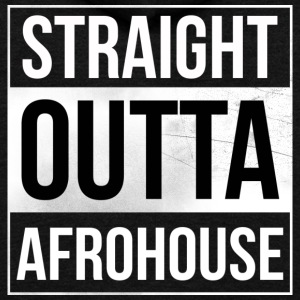 Straight_Outta_AFROHOUSE - Unisex Fleece Zip Hoodie by American Apparel