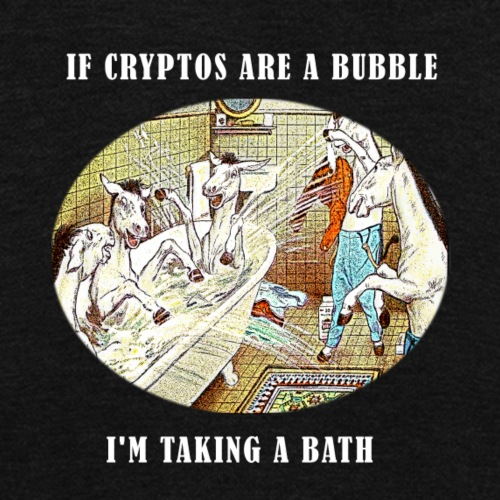 If Cryptos Are a Bubble, I'm Taking a Bath - Unisex Fleece Zip Hoodie